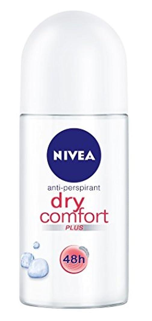 彼謙虚クリスマスNivea Dry Comfort Plus Anti-perspirant Deodorant Roll On for Women 50ml - ニベアドライ快適プラス制汗剤デオドラントロールオン女性のための50ml