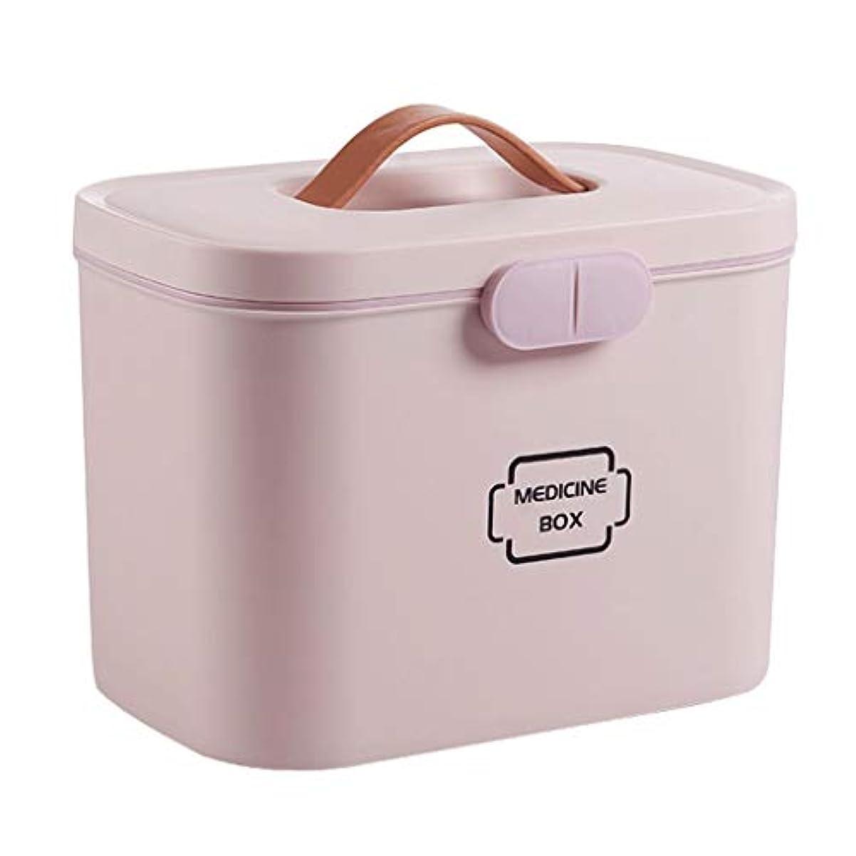 獣トースト海外でピルボックスPP 28.5 * 18 * 21 cm家庭用薬ボックス薬収納ボックス (色 : ピンク)