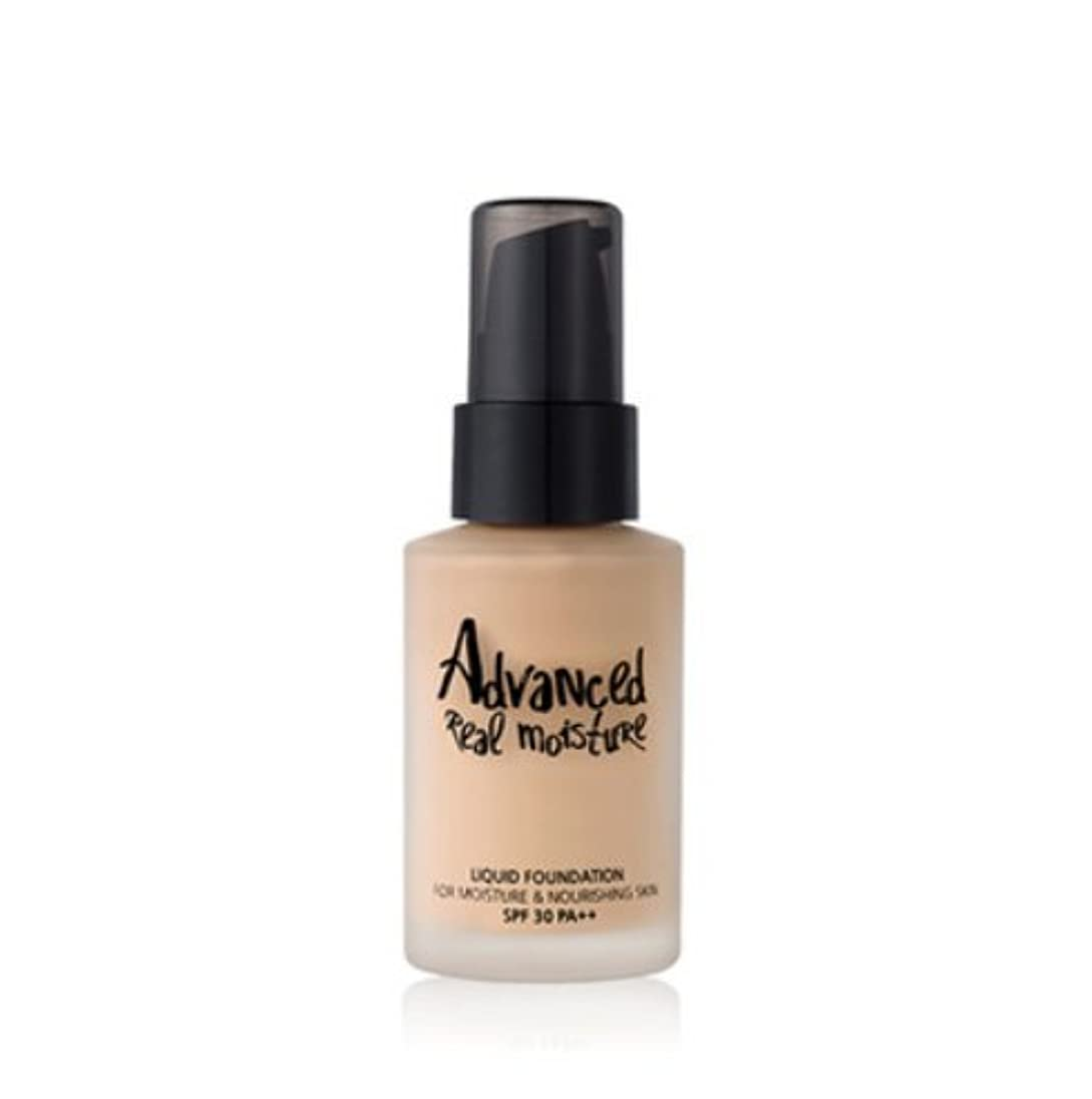 Touch in Sol アドバンスド リアル モイスチャー リキッドファンデーション / Advanced Real Moisture Liquid Foundation (30ml) (#21 Nude Beige)...