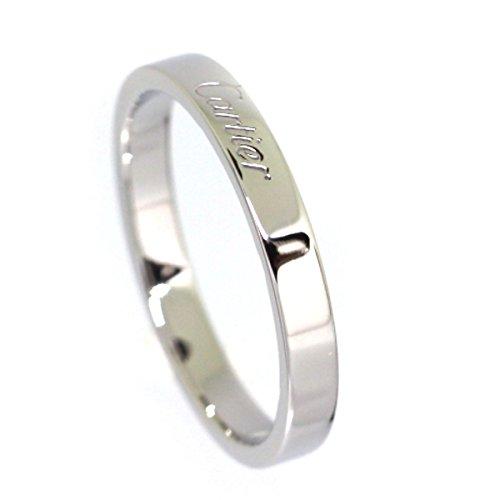 (カルティエ)CARTIER エングレーブド リング・指輪 プラチナPT950 メンズ 中古