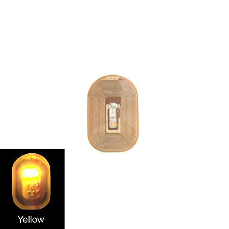 バイオリニスト光景かるACHICOO ネイルアートステッカー NFC ネイルアート LEDライト ステッカーデカール DIY アクセサリー yellow light