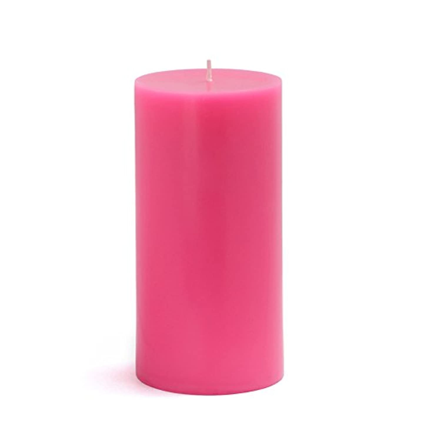 ビヨン勉強する孤独Zest Candle CPZ-084-12 3 x 6 in. Hot Pink Pillar Candles-12pcs-Case - Bulk