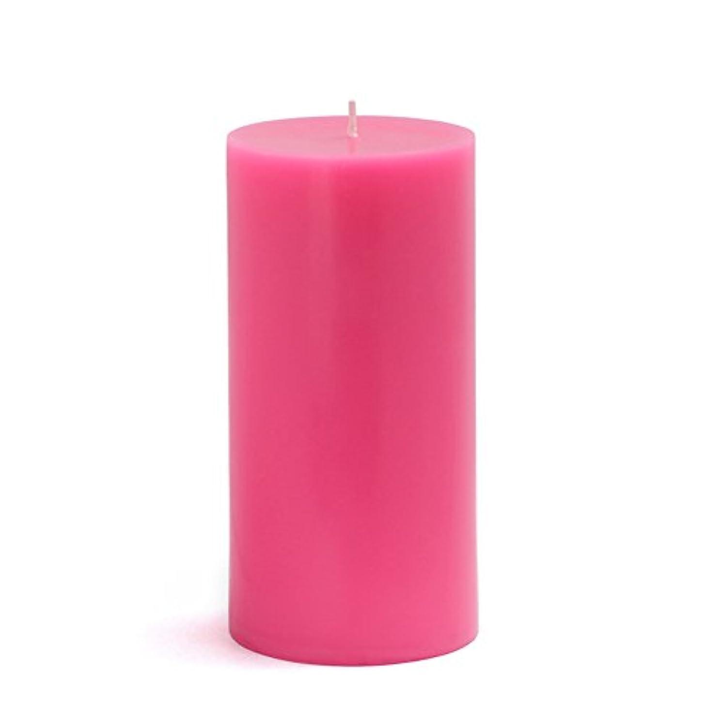 章フィクション月Zest Candle CPZ-084-12 3 x 6 in. Hot Pink Pillar Candles-12pcs-Case - Bulk