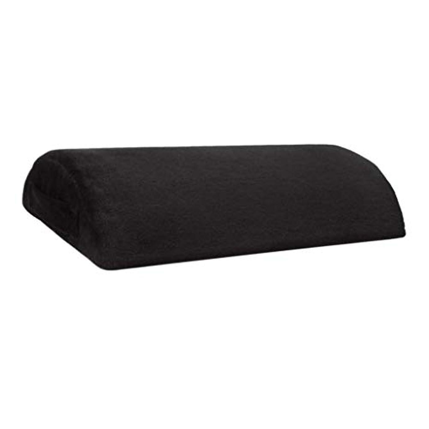 居眠りする北壁足枕 クッション フットレスト 足置き フットレストピロー ハーフシリンダー形 全2カラー - ブラック