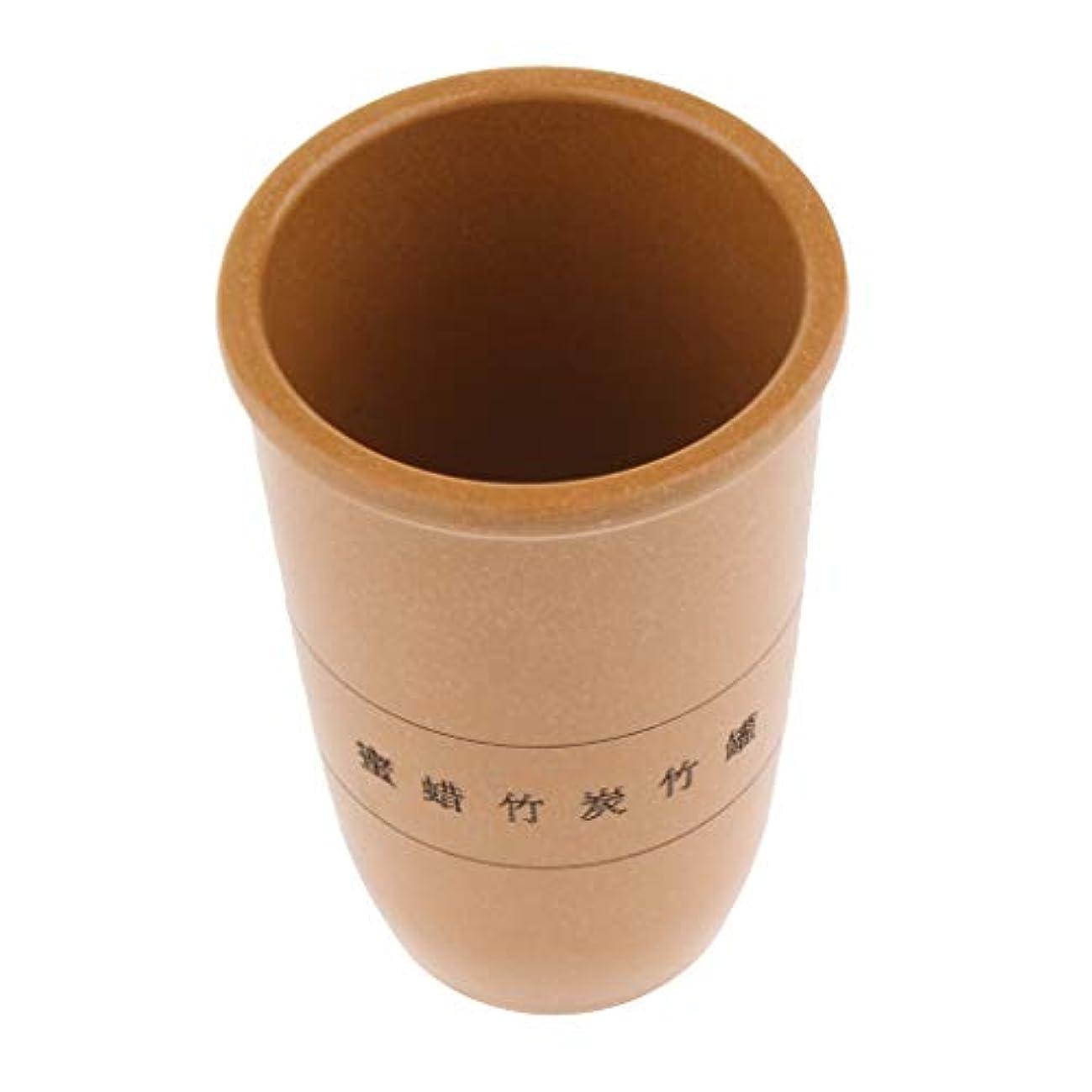 帽子連帯中国 伝統的 カッピング 吸い玉 ボディマッサージ 竹ウッド製 腫脹減軽 抗セルライト 3サイズ選ぶ - 黄, L
