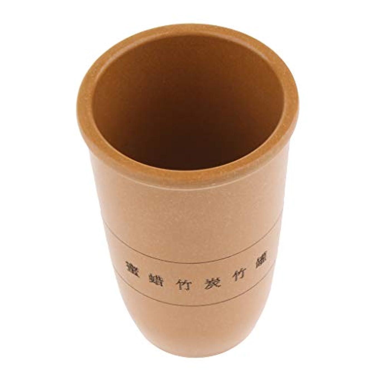 拡声器馬鹿ストリップPerfeclan 中国 伝統的 カッピング 吸い玉 ボディマッサージ 竹ウッド製 腫脹減軽 抗セルライト 3サイズ選ぶ - 黄, L