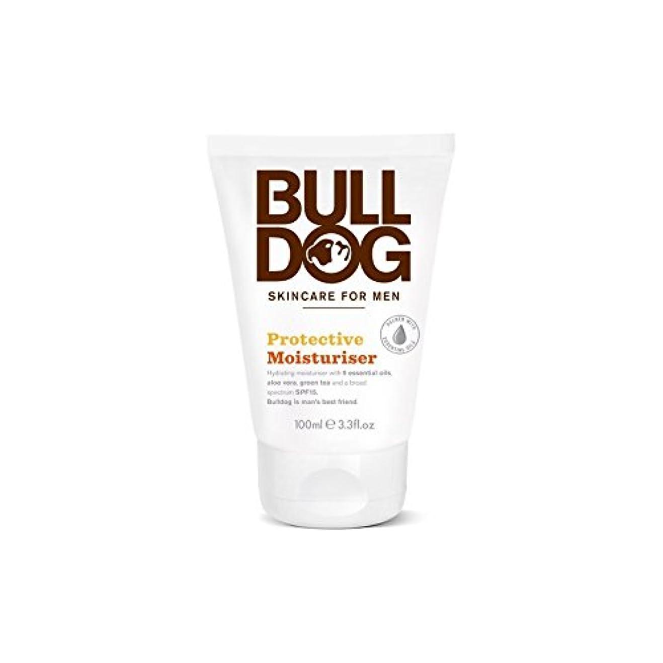 むき出しカロリーお手伝いさんブルドッグ保護保湿成分(100ミリリットル) x4 - Bulldog Protective Moisturiser (100ml) (Pack of 4) [並行輸入品]
