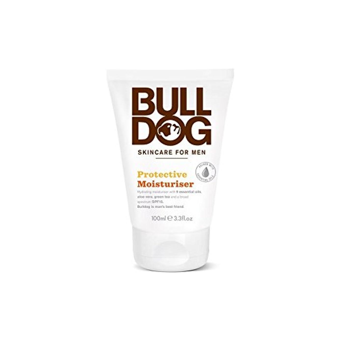 財政ファンブル前にブルドッグ保護保湿成分(100ミリリットル) x2 - Bulldog Protective Moisturiser (100ml) (Pack of 2) [並行輸入品]