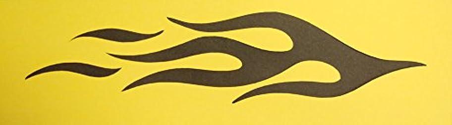 急行する予備恩恵【紙製 ステンシル シート A4】 ファイヤーパターン 炎 火 fire02