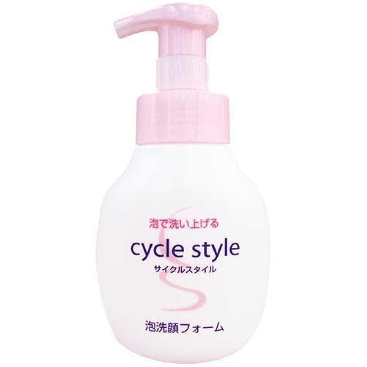 再生可能現在恒久的サイクルスタイル 泡洗顔フォーム 本体 250ml 【まとめ買い120個セット】