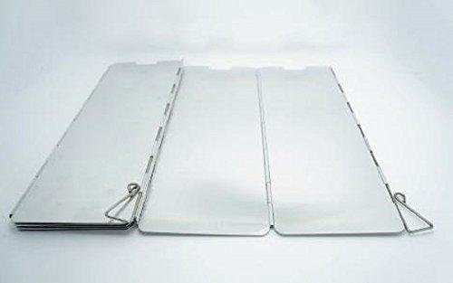 MSP 風除板 ウインドスクリーン 10枚 プレート 折り畳み式 アルミ製 延長版 風よけ 風防