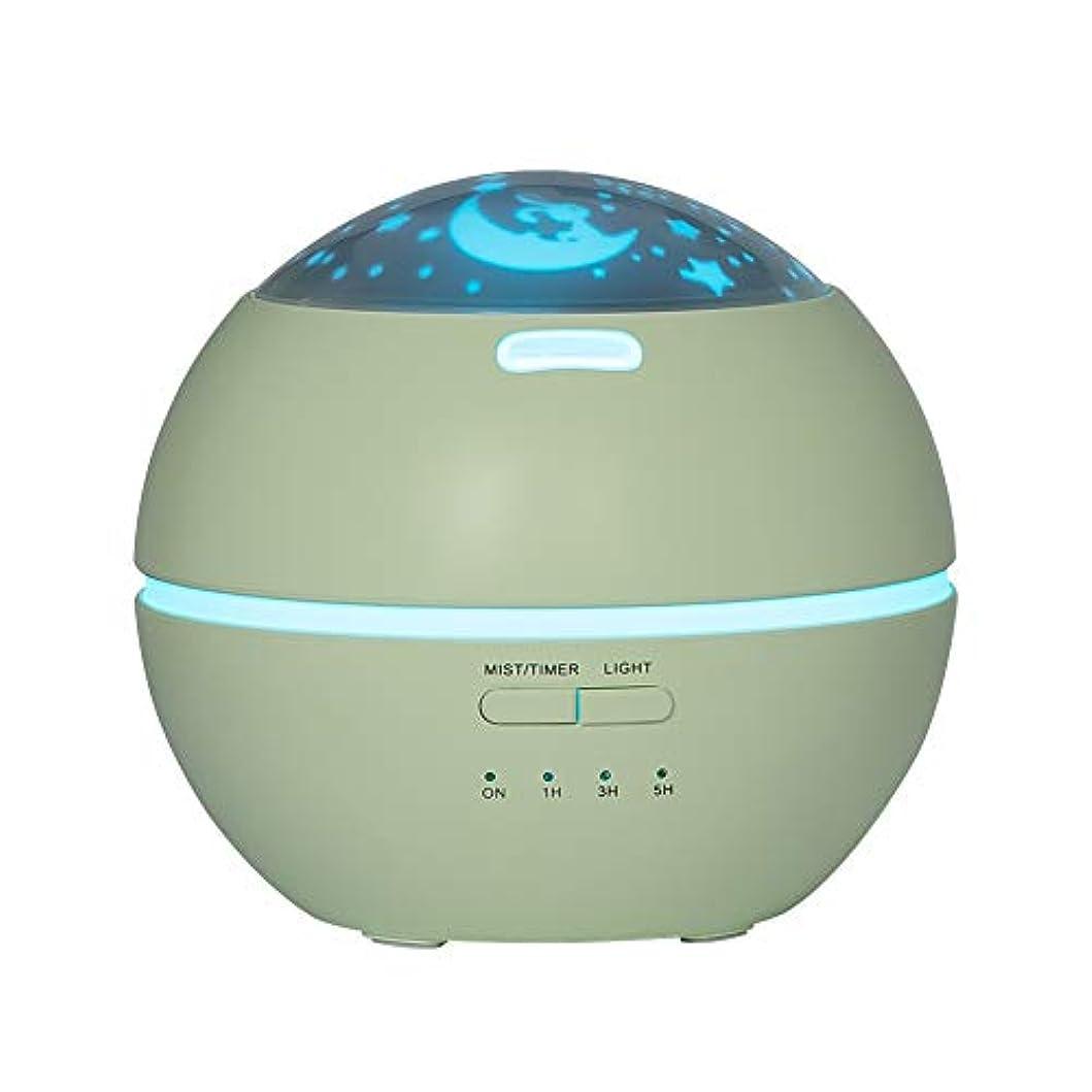 部分的自明アプライアンスLIBESON 加湿器 卓上 超音波式 アロマディフューザー 8色LEDライト変換 超静音 ミス調整可能 時間設定タイマー機能付き 空焚き防止機能搭載 アロマ加湿器 ホワイト150mL (グリーン)