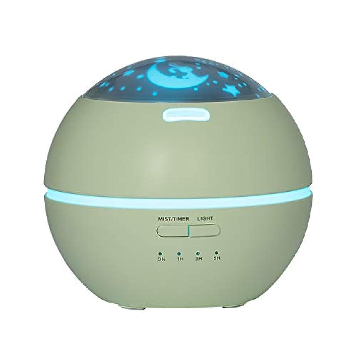 毒ジャニス染料LIBESON 加湿器 卓上 超音波式 アロマディフューザー 8色LEDライト変換 超静音 ミス調整可能 時間設定タイマー機能付き 空焚き防止機能搭載 アロマ加湿器 ホワイト150mL (グリーン)