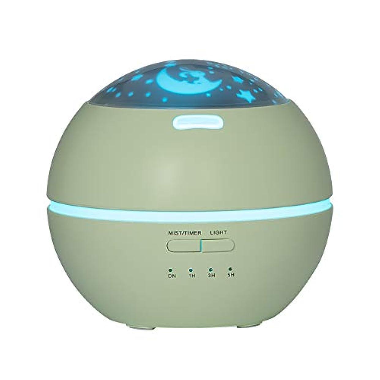 スリチンモイ名誉ハムLIBESON 加湿器 卓上 超音波式 アロマディフューザー 8色LEDライト変換 超静音 ミス調整可能 時間設定タイマー機能付き 空焚き防止機能搭載 アロマ加湿器 ホワイト150mL (グリーン)