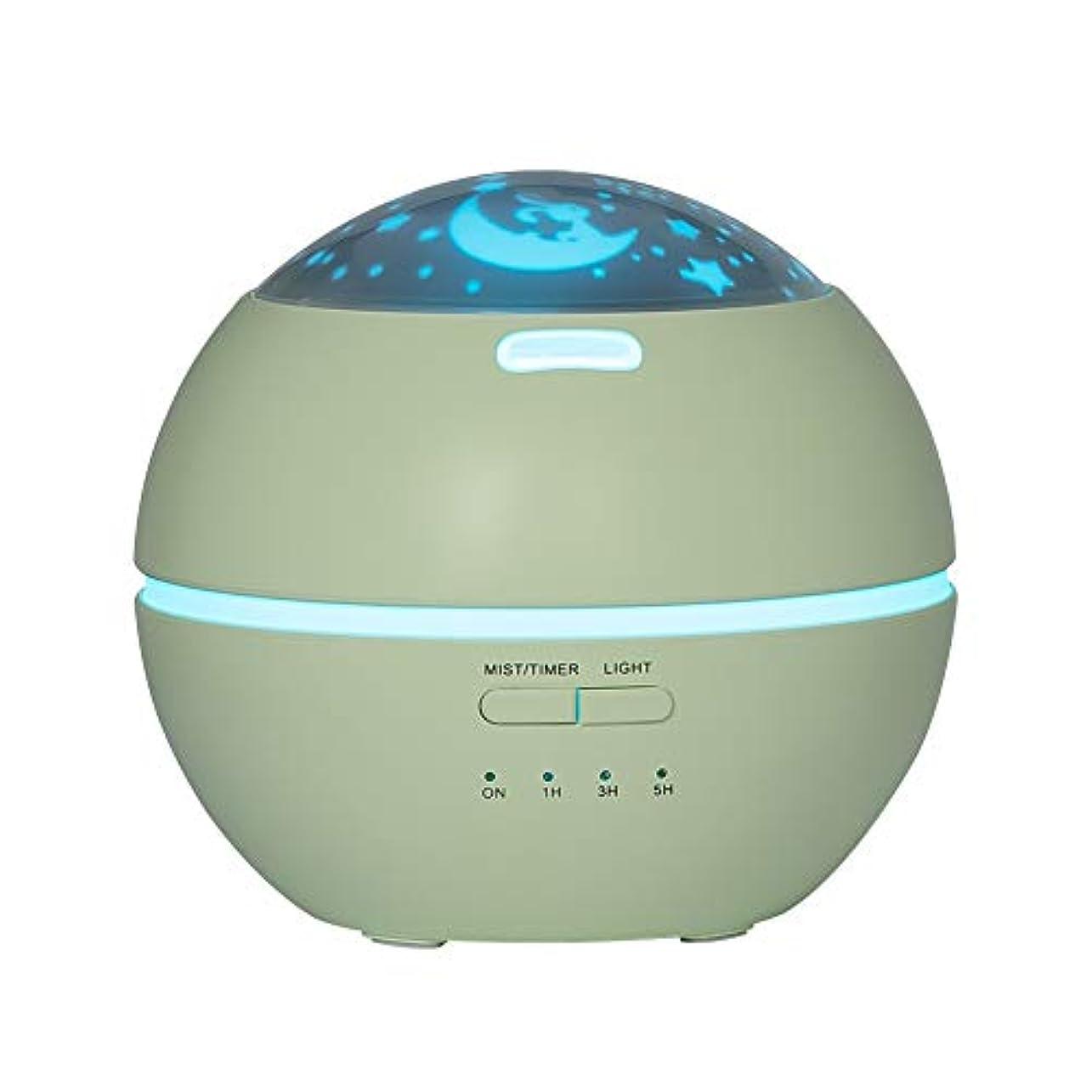 ワイドわずかなスマイルLIBESON 加湿器 卓上 超音波式 アロマディフューザー 8色LEDライト変換 超静音 ミス調整可能 時間設定タイマー機能付き 空焚き防止機能搭載 アロマ加湿器 ホワイト150mL (グリーン)