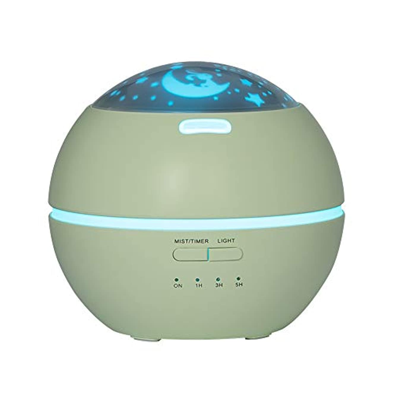 ジョージバーナード滝害LIBESON 加湿器 卓上 超音波式 アロマディフューザー 8色LEDライト変換 超静音 ミス調整可能 時間設定タイマー機能付き 空焚き防止機能搭載 アロマ加湿器 ホワイト150mL (グリーン)
