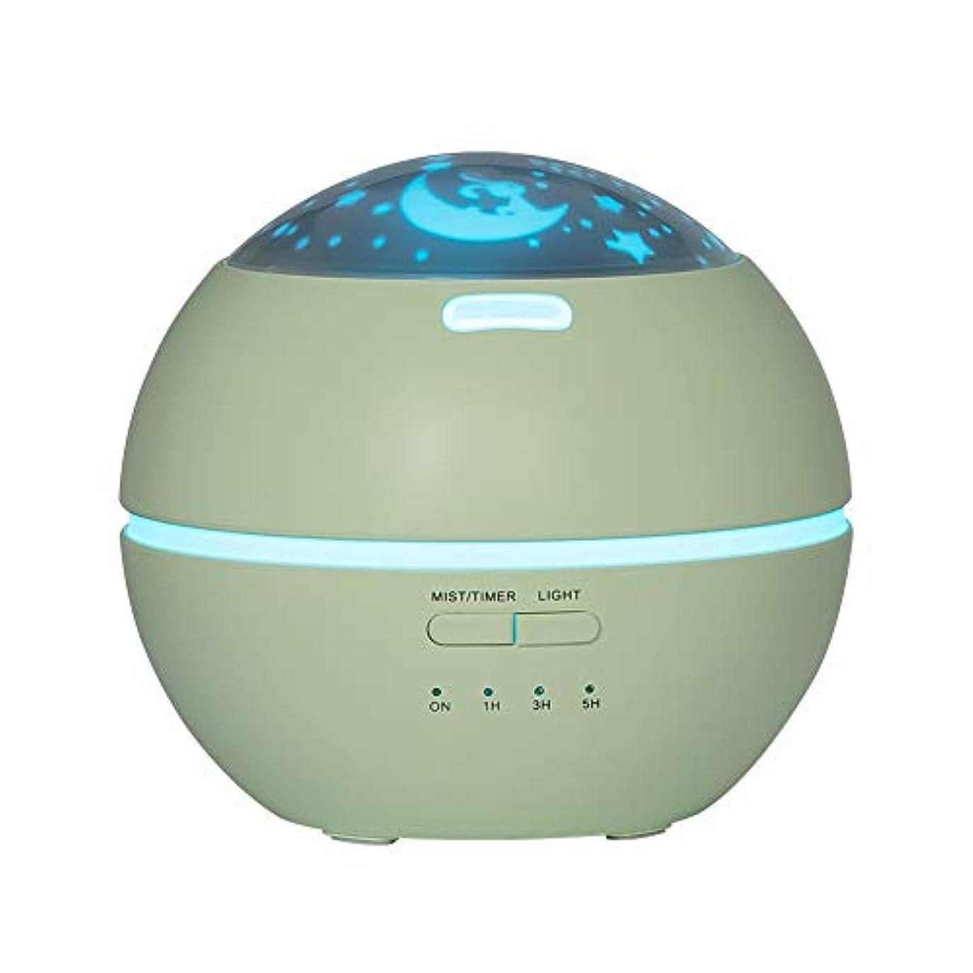 擁するタンパク質代数LIBESON 加湿器 卓上 超音波式 アロマディフューザー 8色LEDライト変換 超静音 ミス調整可能 時間設定タイマー機能付き 空焚き防止機能搭載 アロマ加湿器 ホワイト150mL (グリーン)