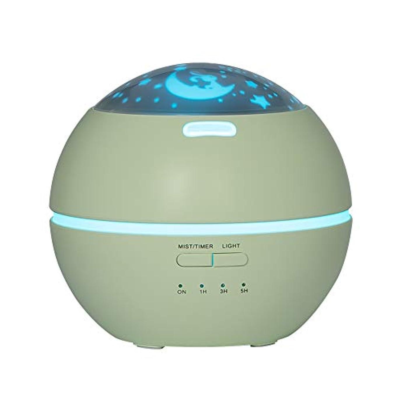 ファンシースティーブンソン確認LIBESON 加湿器 卓上 超音波式 アロマディフューザー 8色LEDライト変換 超静音 ミス調整可能 時間設定タイマー機能付き 空焚き防止機能搭載 アロマ加湿器 ホワイト150mL (グリーン)