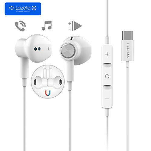 Glazata Type C イヤホンマイク/リモコン付き 高音質で通話可能 アイフォン アンドロイド多機種対応 軽量 iPhone/Android/PC/ipodなど対応 「E57」