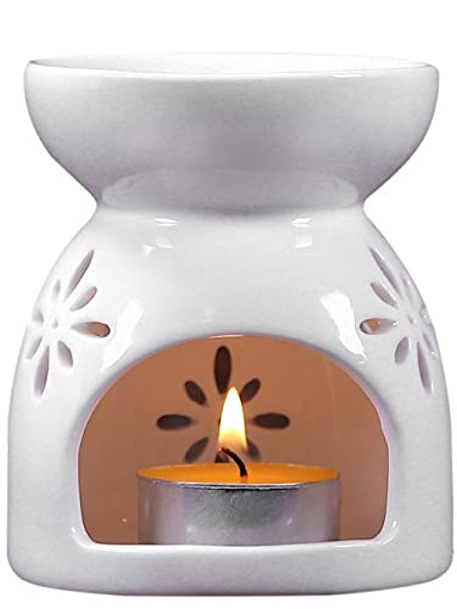 滑るフィールドアカデミックgannbarou お香 茶 香炉 アロマ炉 薫香 精油 インテリア アロマディフューザー 中空の彫刻工芸 消臭と癒し おしゃれ お茶の香り 陶器 置物 ホワイト