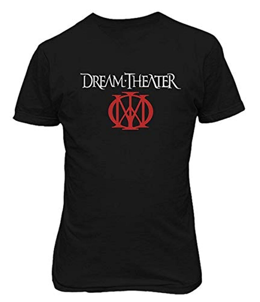 火傷残忍な公式RCY-T メンズ DREAM THEATER Music コットン Tシャツ