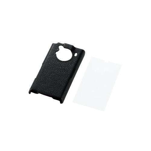ELECOM docomo REGZA Phone  T-01C レザーカバー ブラック PD-TS01PLBK
