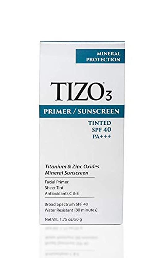 直径テスト尾Tizo 3 Facial Mineral Sunscreen Tinted SPF40 50ml