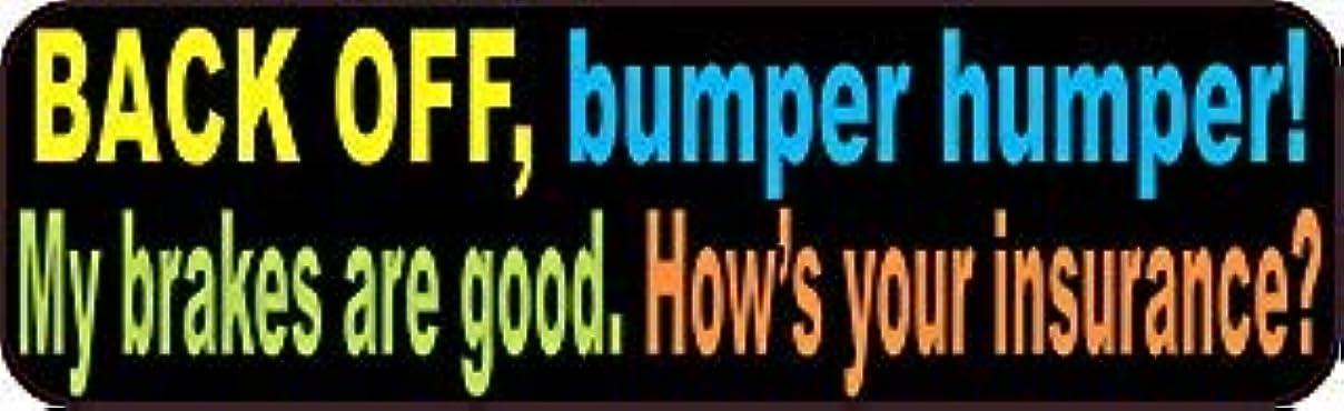 ポーチ財団赤StickerTalk 10in x 3in Colorful Back Off Bumper Humper Magnets Vinyl Truck Magnetic Sign [並行輸入品]