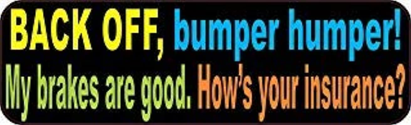 混乱させる大きなスケールで見るとけん引StickerTalk 10in x 3in Colorful Back Off Bumper Humper Magnets Vinyl Truck Magnetic Sign [並行輸入品]