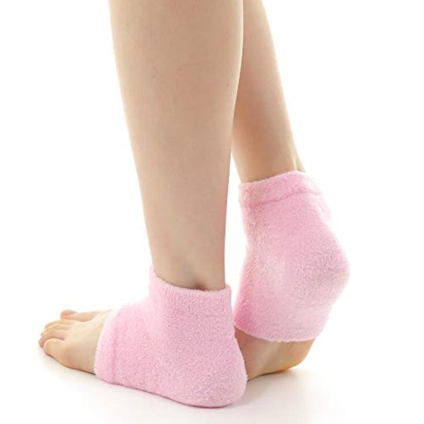 剛性電圧それに応じてドットジャパン かかとケア ぷるもこ ジェルソックス サポーター ひび割れ 角質取り 保湿 靴下 フリーサイズ (ピンク)