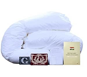 羽毛布団 シングル エクセルゴールド ハンガリー産ホワイトダックダウン90% 日本製 (06361410)