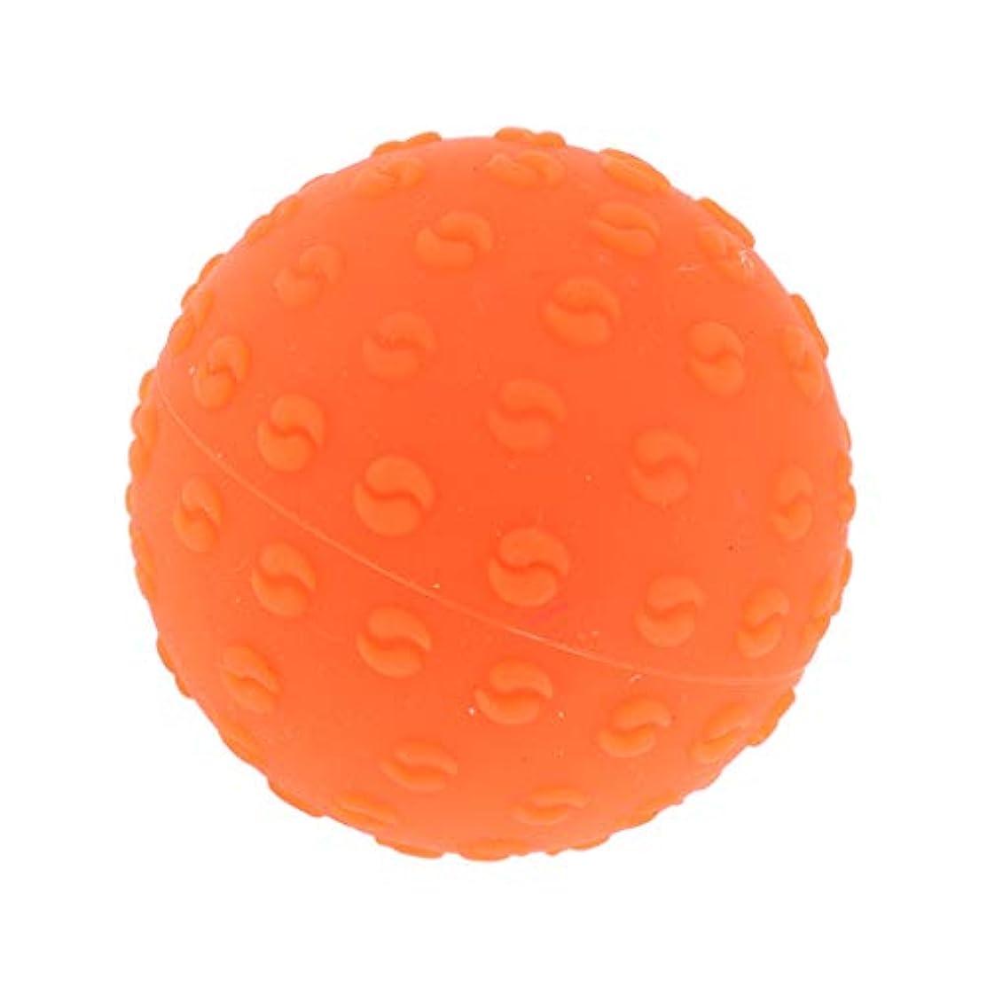 排出中傷申し立てられたマッサージボール 指圧ボール シリコーン トリガーポイント 足底筋膜炎 ヨガ マッサージ器 全6色 - オレンジ, 説明のとおり