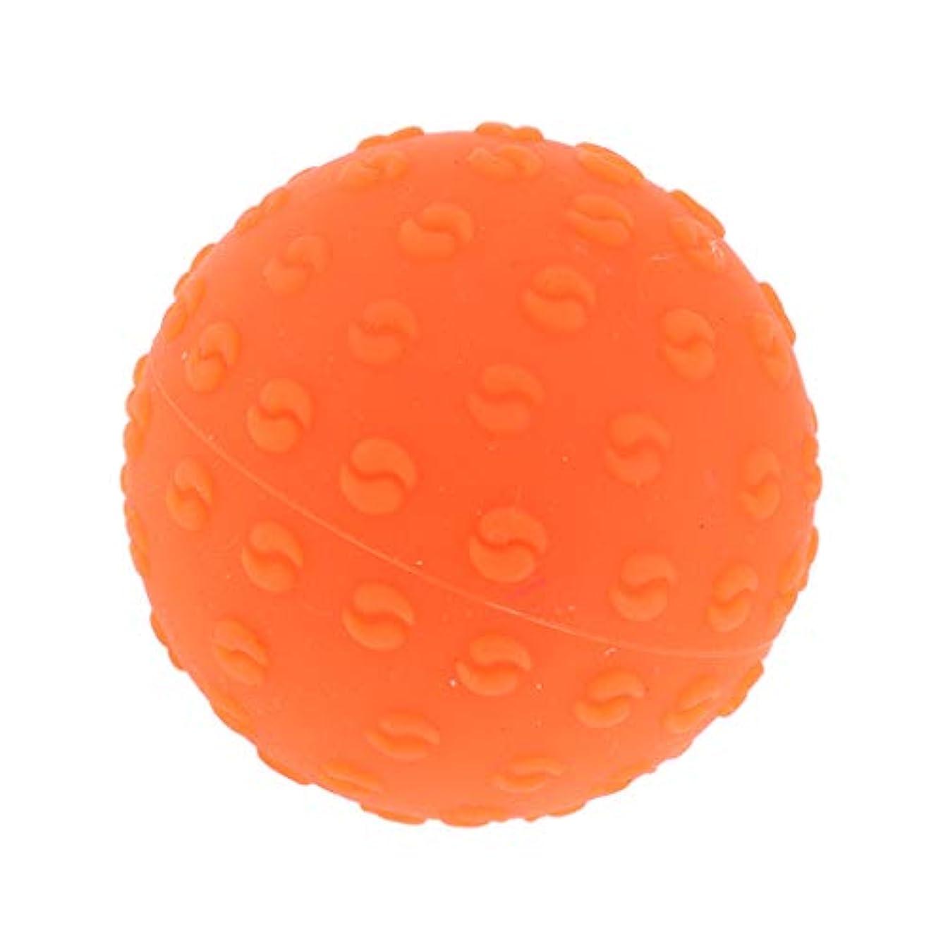 喜ぶ勘違いするマッサージボール 指圧ボール シリコーン トリガーポイント 足底筋膜炎 ヨガ マッサージ器 全6色 - オレンジ, 説明のとおり