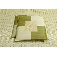純国産/日本製 捺染返し い草座布団 『草美(くさび) 2枚組』 グリーン 約55×55cm×2P