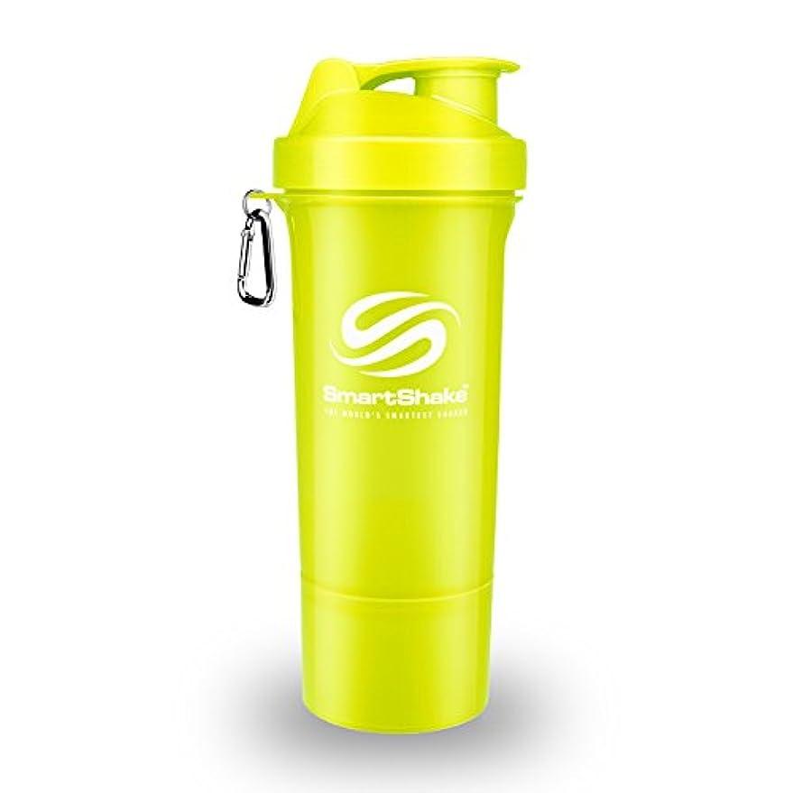 呼吸ドロップ選択SmartShake Slim(スマートシェイク スリム) NEON YELLOW 500ml 多機能プロテインシェイカー