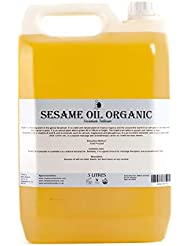 Mystic Moments | Sesame Organic Carrier Oil - 5 Litres - 100% Pure