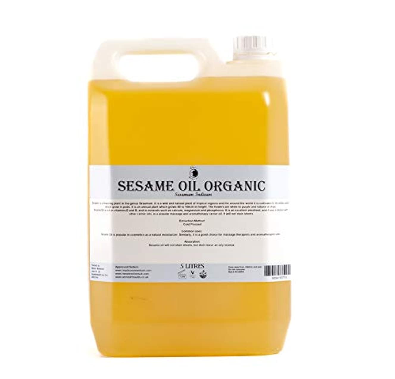 バルク虫バッジMystic Moments | Sesame Organic Carrier Oil - 5 Litres - 100% Pure