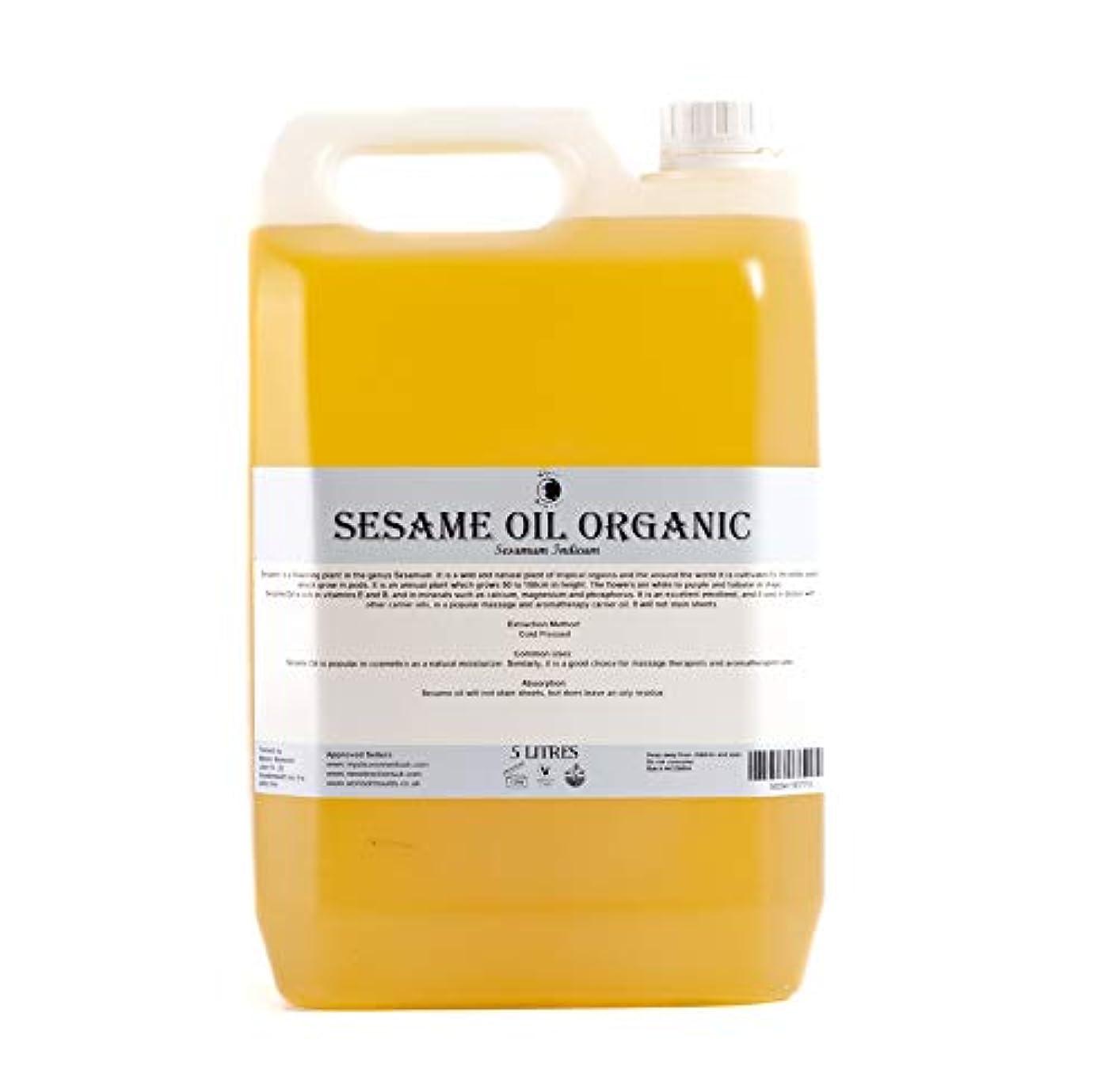 マッシュ権限グローブMystic Moments | Sesame Organic Carrier Oil - 5 Litres - 100% Pure
