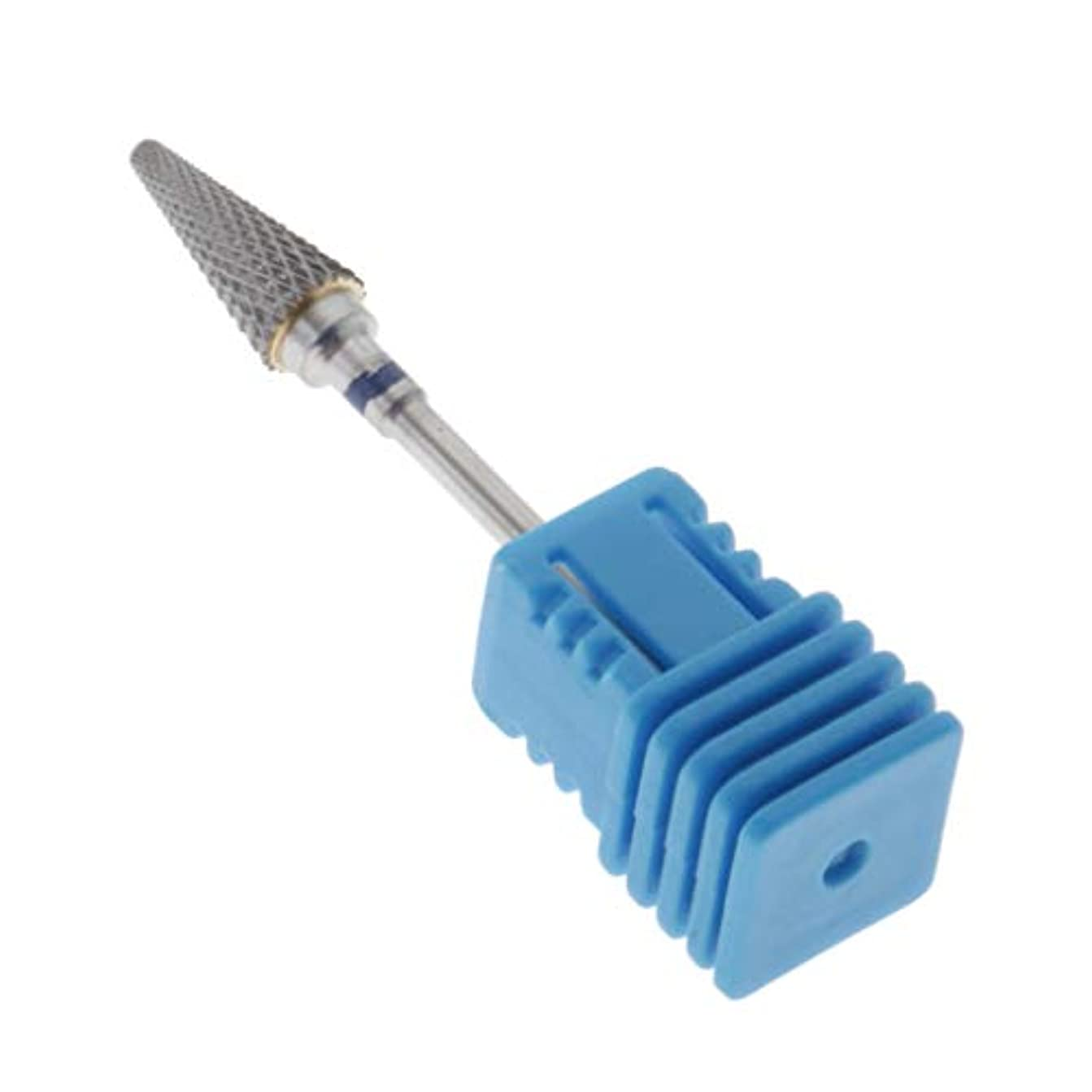教える付与本気CUTICATE ネイルドリルビット ネイルズファイルビット ネイルファイル 爪磨き 爪やすり ジェルネイル用 全3カラー - 青