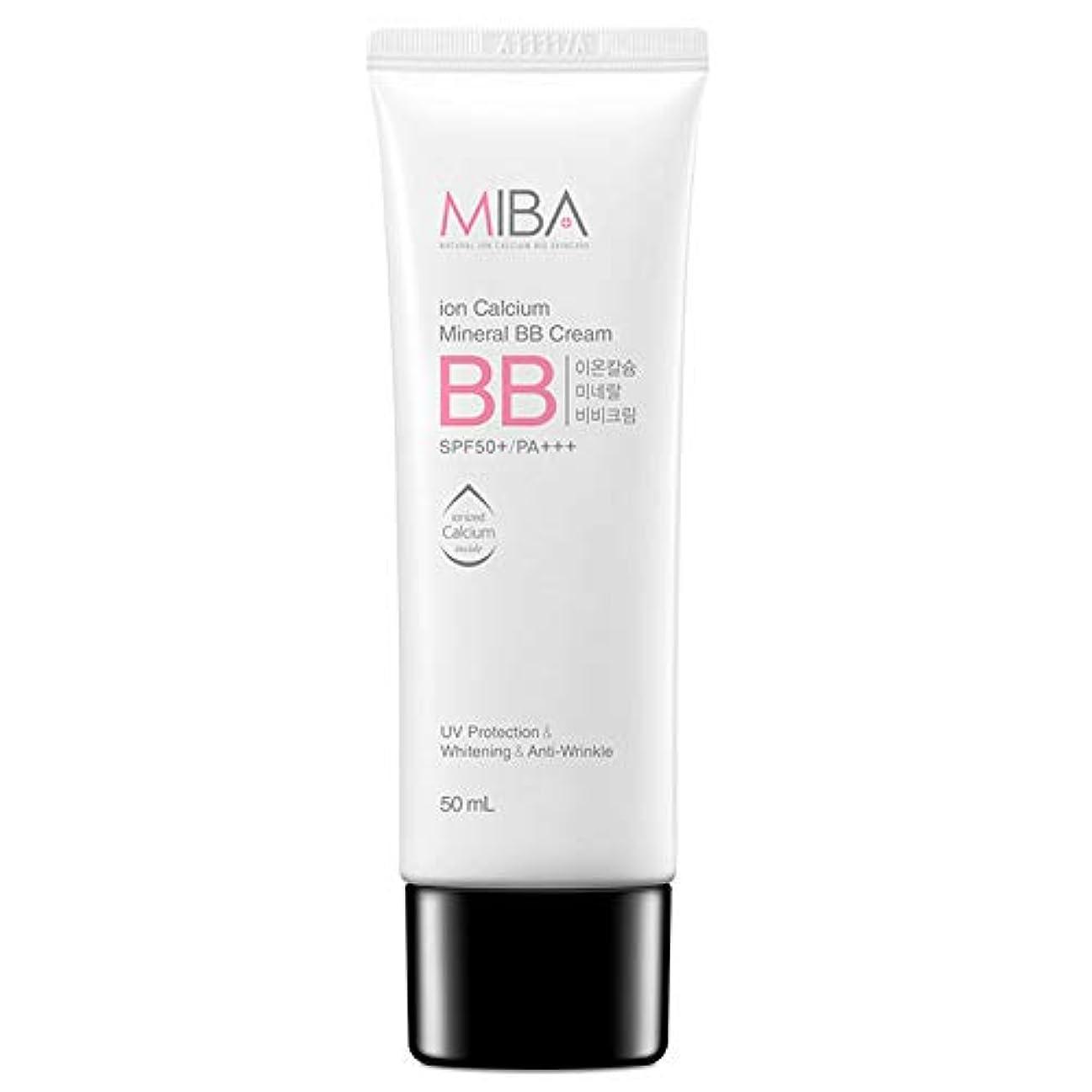 動的バスト頑固なスキンDr ミバ IC ミネラルBBクリーム SPF50+/ PA+++ / MIBA Ion Calcium Mineral BB Cream [正規品]