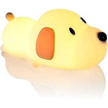 WAYONE ワンちゃん LED ナイトライト 夜間ライト USB充電 犬 猫 ベッドサイドランプ 授乳用ライト 子供安全素材 寝室用 色温度・明るさ調節可能 タッチ式 プレゼント 柔らか素材 クリスマス プレゼント