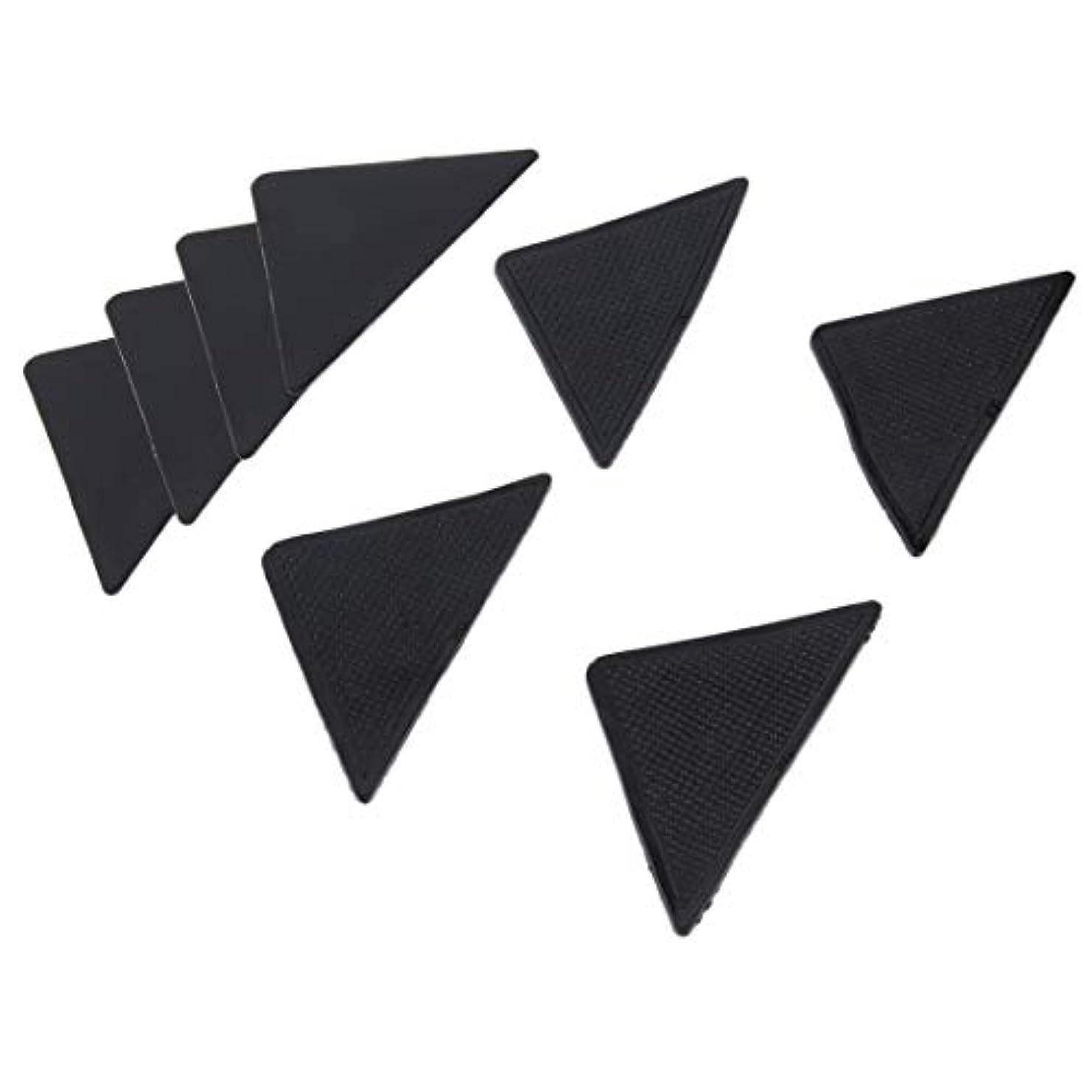 施しサーマル知るSwiftgood 4個の敷物のカーペットのマットのグリッパーの非スリップの反スキッドの再使用可能なシリコーンのグリップパッド