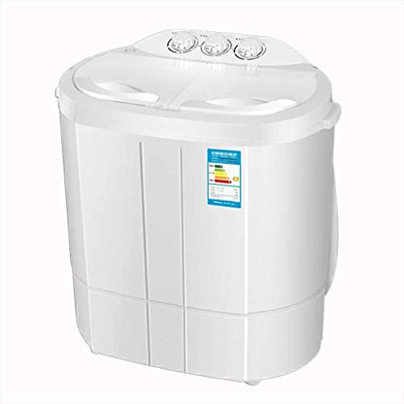 運営ゲインセイりドラム洗濯機/ミニ洗濯機、スモールダブルバレル子供の家庭用洗濯機、半自動ポータブル洗濯機30秒間乾燥、ベビー服のための適切な(555 * 375 * 590ミリメートル) /コンパクトミニ洗濯機
