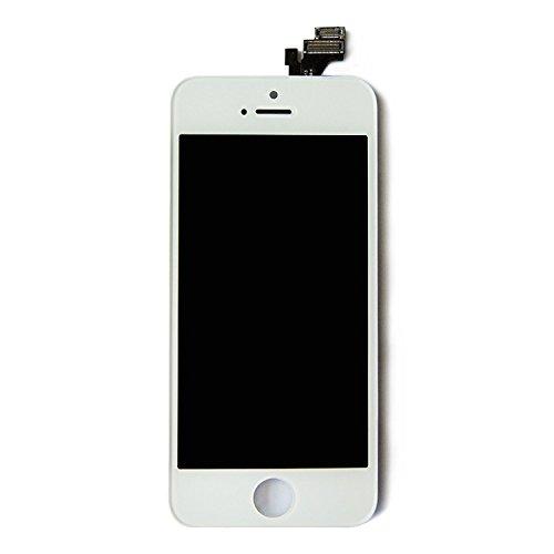 HJ iPhone5 修理交換用フロントパネルセット(フロントガラスデジタイザ)タッチパネル 液晶パネル 修理工...