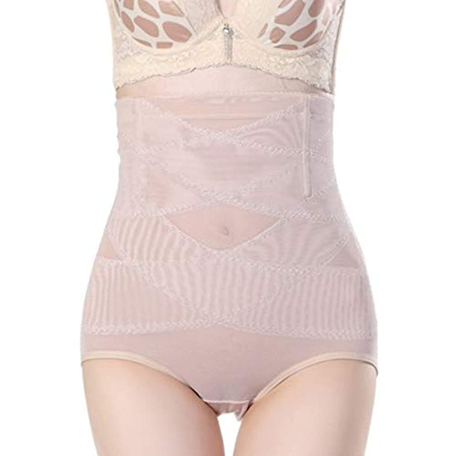 見込み把握レキシコン腹部制御下着シームレスおなかコントロールパンティーバットリフターボディシェイパーを痩身通気性のハイウエストの女性 - 肌色2 XL