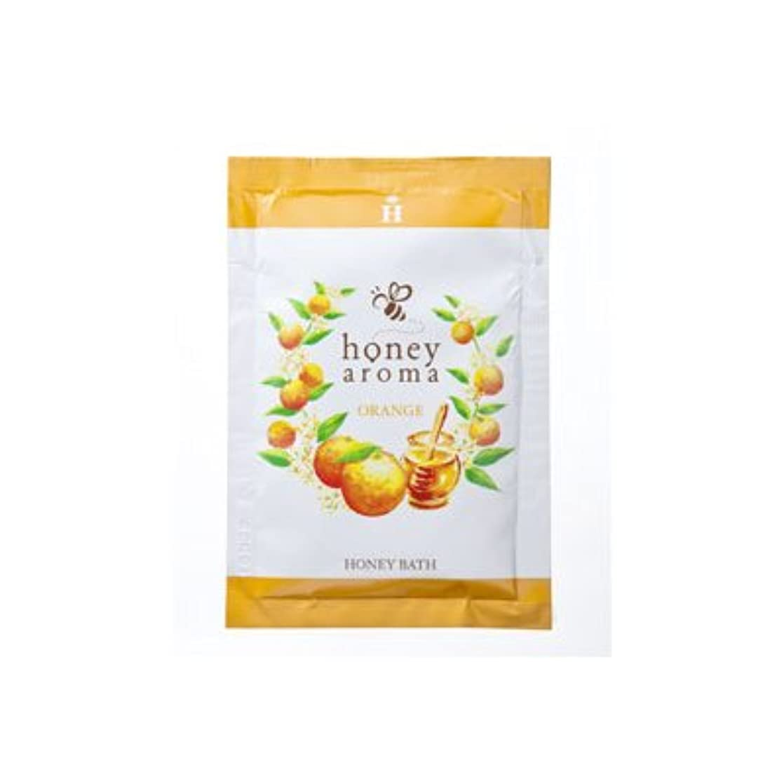 何可動式静かにハニーアロマ ハニーバス(入浴剤) 5包(オレンジの香り)