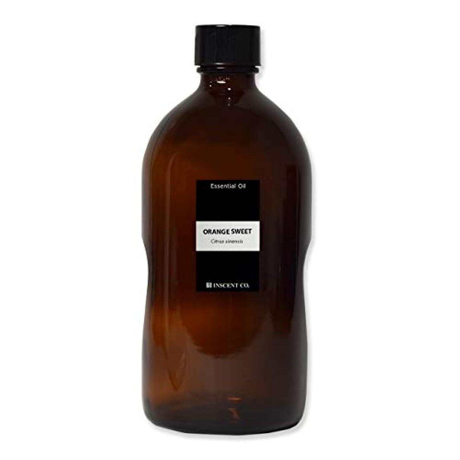 花瓶生産性玉(業務用) オレンジスイート 1000ml インセント アロマオイル AEAJ 表示基準適合認定精油