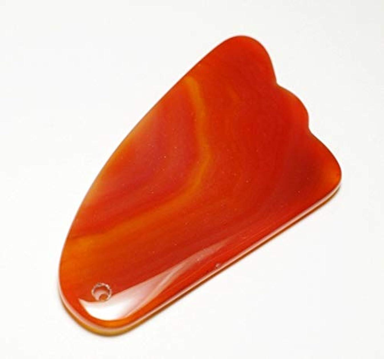 フロー規模ボイコットカーネリアン かっさ 羽型 Shylph 美と健康に マッサージ 赤瑪瑙カッサ