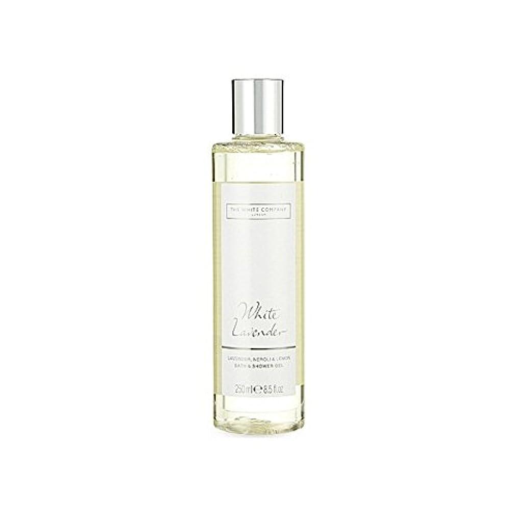 指導するプロジェクター劇作家The White Company White Lavender Bath & Shower Gel - 白同社白ラベンダーのバス&シャワージェル [並行輸入品]