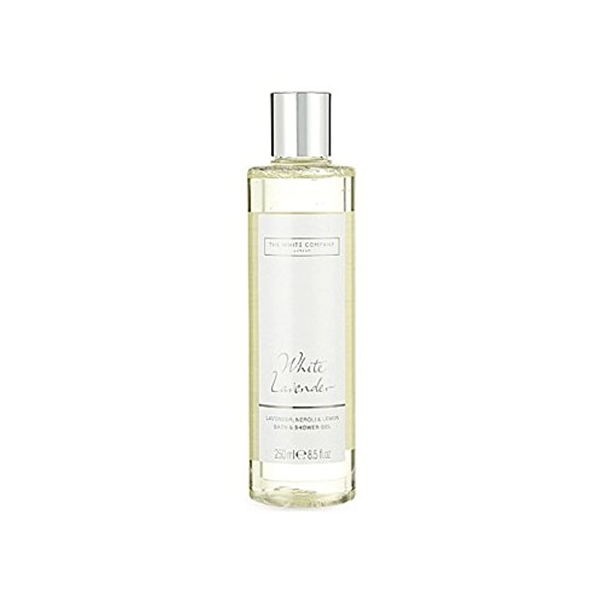 労働才能ワーディアンケースThe White Company White Lavender Bath & Shower Gel - 白同社白ラベンダーのバス&シャワージェル [並行輸入品]